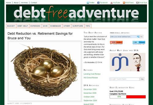 debt free adventure